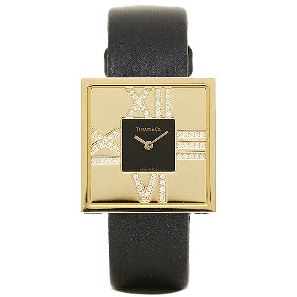 ティファニー 時計 レディース TIFFANY&Co. Z1950.10.50E10A40E ATLAS COCKTAIL SQUARE LADY 腕時計 ウォッチ ブラック