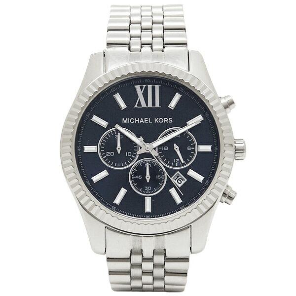マイケルコース 時計 メンズ MICHAEL KORS MK8280 LEXINGTON レキシントン 腕時計 ウォッチ シルバー/ブルー