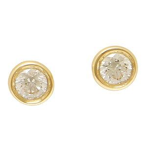 TIFFANY&Co. ピアス アクセサリー ティファニー 12818653 18K ダイヤモンド バイザヤード 0.10ct 18YG イエローゴールド
