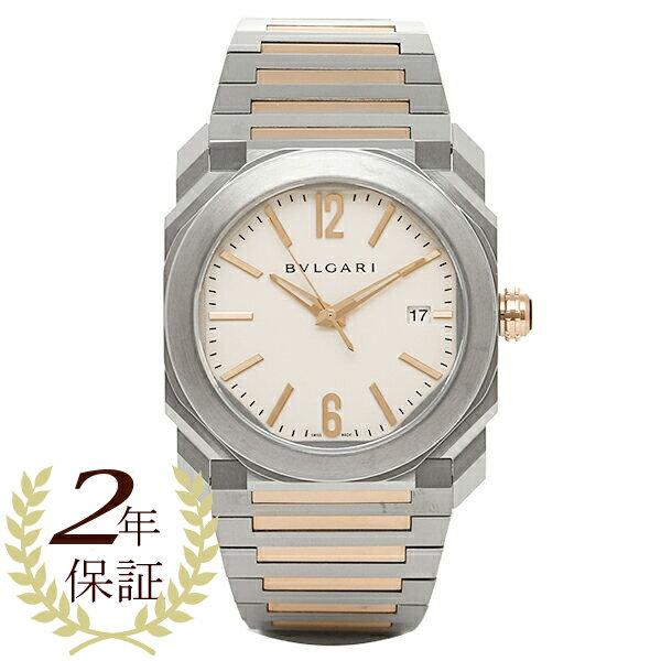 BVLGARI 時計 メンズ ブルガリ BGO38WSPGD 102118 オクト ソロテンポ 自動巻き 腕時計 ウォッチ シルバー/ゴールド/ホワイト