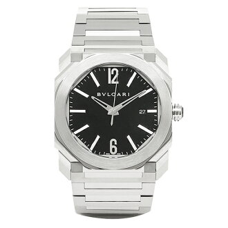 Bulgari clock men BVLGARI BGO41BSSD 102031 octoself-winding watch watch watch silver / black