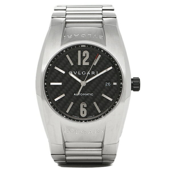 BVLGARI 時計 メンズ ブルガリ EG40BSSDN 102577 ERGON エルゴン 自動巻き 腕時計 ウォッチ シルバー/ブラック
