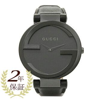 Gucci watches ladies GUCCI YA133302 INTERROCKING interlocking watch watch black