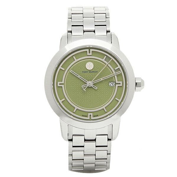 トリーバーチ 時計 レディース TORY BURCH TRB1007 TORY 日常生活防水 腕時計 ウォッチ グリ-ン/シルバ-