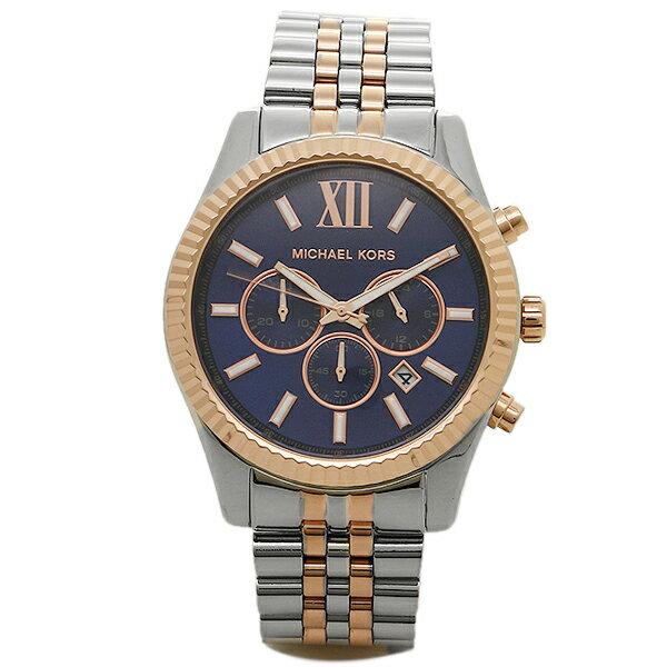 マイケルコース 腕時計 メンズ MICHAEL KORS MK8412 LEXINGTON レキシントン クロノグラフ ウォッチ シルバー/ブルー