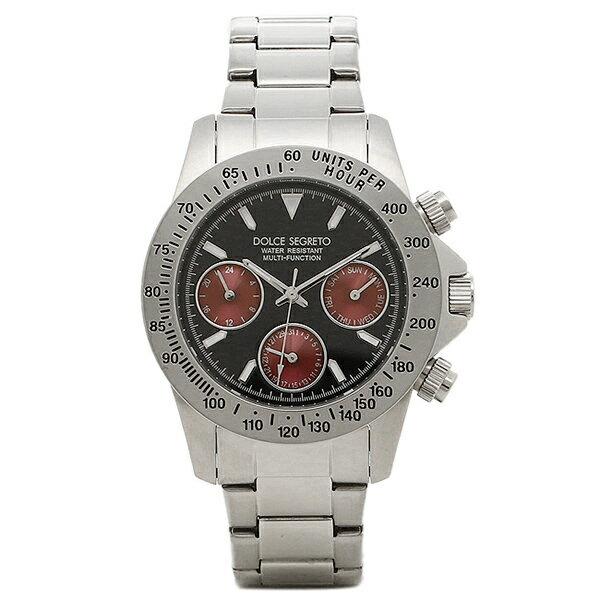 ドルチェセグレート 時計 DOLCE SEGRETO MCG100BKR コスモス クロノグラフ メンズ腕時計 ウォッチ ブラック/レッド/シルバー
