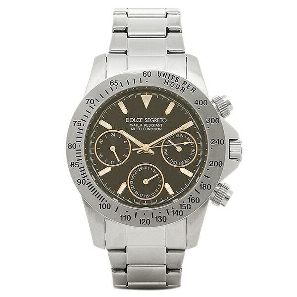 ドルチェセグレート 時計 DOLCE SEGRETO MCG100BKYG コスモス クロノグラフ メンズ腕時計 ウォッチ ブラック/シルバー