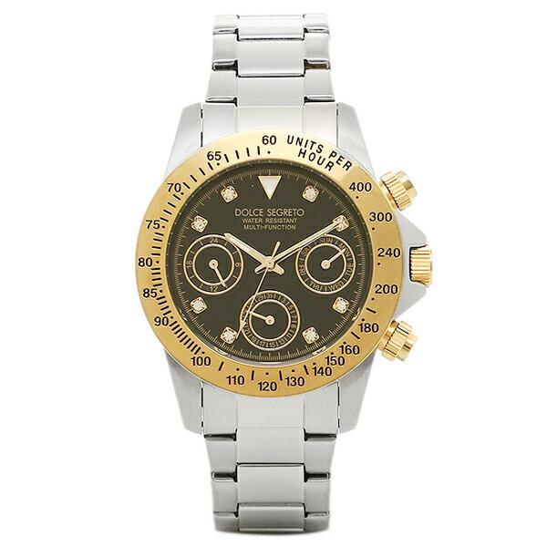 ドルチェセグレート 時計 DOLCE SEGRETO MCG200BK 8 コスモス クロノグラフ メンズ腕時計 ウォッチ ブラック/イエローゴールド/シルバー