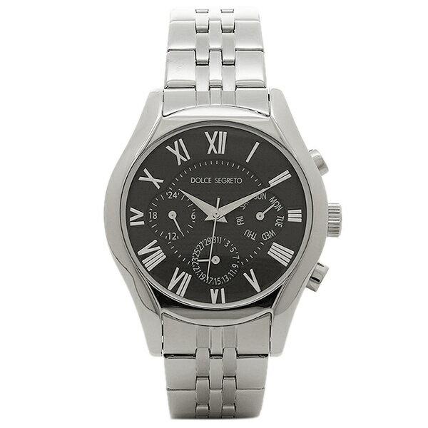 ドルチェセグレート 時計 DOLCE SEGRETO MEA100BK ドレス クロノグラフ メンズ腕時計 ウォッチ ブラック/シルバー