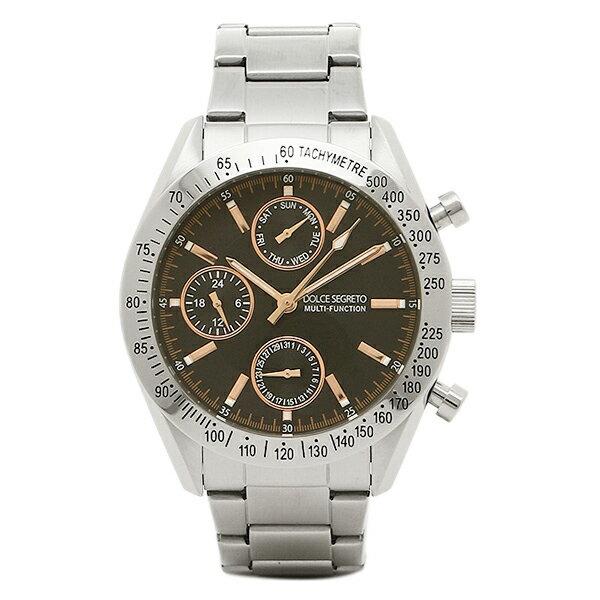 ドルチェセグレート 時計 DOLCE SEGRETO MSM101BKPG グランドクロノ メンズ腕時計 ウォッチ ブラック/シルバー
