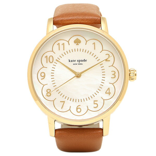 ケイトスペード 時計 KATE SPADE 1YRU0835 METRO メトロ レディース腕時計ウォッチ ホワイトパール/ブラウン