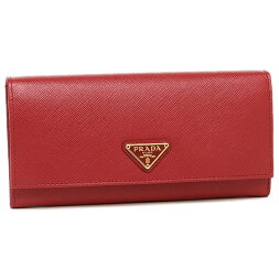 PRADAプラダ長財布レディース1MH132QHHF068Zレッド