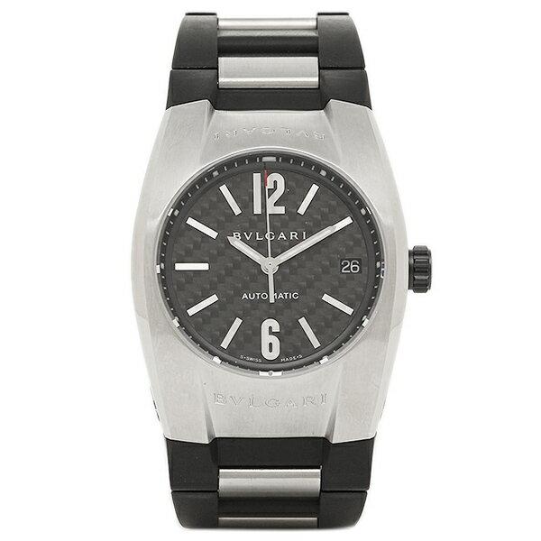 ブルガリ 時計 メンズ BVLGARI EG35BSVD エルゴン 腕時計 ウォッチ シルバー/ブラック/カーボンブラック