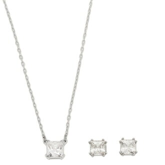 Swarovski earring & necklace set Womens SWAROVSKI 5033022 ATTRACT attract pendant silver / Crystal