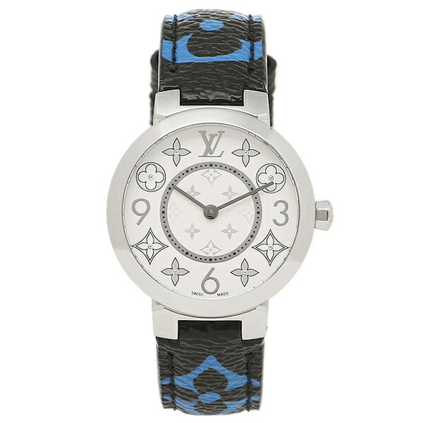 LOUIS VUITTON 時計 ルイヴィトン Q12MGH ブラック ブルー シルバー ホワイト