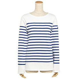 SAINT JAMES セントジェームス ナヴァル NAVAL メンズ レディース ロングTシャツ 2691 90 ホワイト ブルー