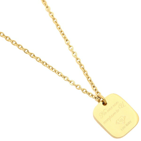 ライオンハート ネックレス アクセサリー メンズ/レディース LION HEART 04N157SG ゴールド