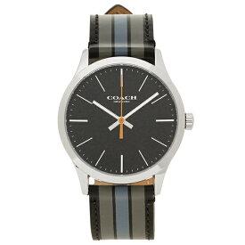 4596007e35ca アウトレット COACH コーチ 腕時計 メンズ W1545 D9B シルバー ブラック グレー