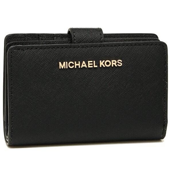 MICHAEL KORS 折財布 アウトレット レディース 35F7GTVF2L BLACK ブラック