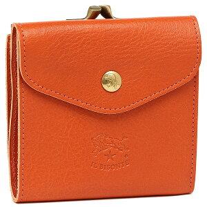 IL BISONTE イルビゾンテ C0423P 二つ折り財布 レディース レザー 166 ORANGE/GOLD オレンジ/ゴールド
