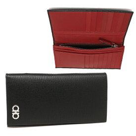 Salvatore Ferragamo 長財布 メンズ フェラガモ 66A069 0686018 007 ブラック レッド