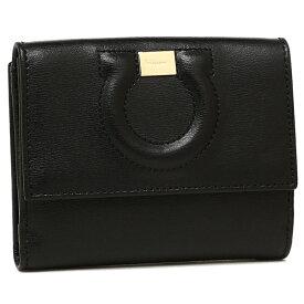 Salvatore Ferragamo 折財布 レディース フェラガモ 22C844 0684441 ブラック