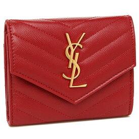 SAINT LAURENT PARIS 二つ折り財布 レディース サンローラン 403943 BOW01 6805 レッド