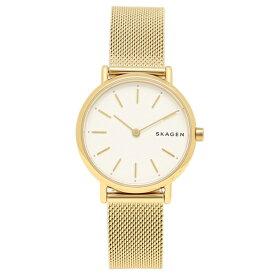 SKAGEN 腕時計 レディース スカーゲン SKW2693 ホワイト イエローゴールド