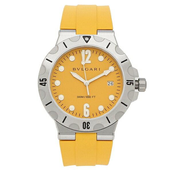 BVLGARI 腕時計 メンズ 自動巻き ブルガリ DP41C10SVSD イエロー シルバー