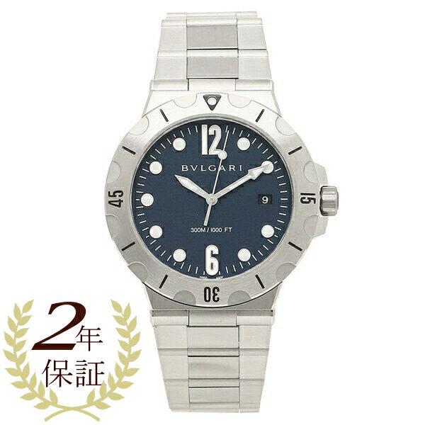 BVLGARI 腕時計 メンズ 自動巻き ブルガリ DP41C3SSSD ブルー シルバー