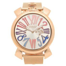 GAGA MILANO 腕時計 メンズ ガガミラノ 5081.1-NEW シルバー ピンクゴールド マルチカラー