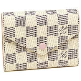 LOUIS VUITTON 折財布 レディース ルイヴィトン N64022 ベージュ/ピンク