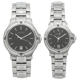 GUCCI 腕時計 ペアウォッチ レディース メンズ グッチ YA090304 YA090506 ブラック シルバー