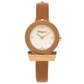 fc644b90a6 Salvatore Ferragamo 腕時計 レディース フェラガモ F43070017 ブラウン パール ローズゴールド