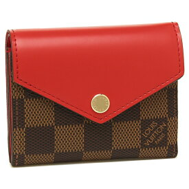 LOUIS VUITTON 折財布 レディース ルイヴィトン N60166 ブラウン レッド