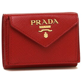 7f46c437232b PRADA 折財布 レディース プラダ 1MH021 QWA F068Z レッド