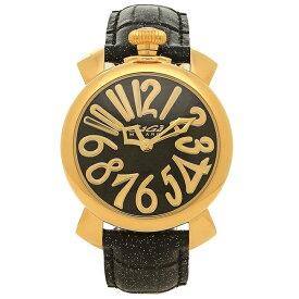 GAGA MILANO 腕時計 レディース ガガミラノ 5223.01 ブラック ゴールド