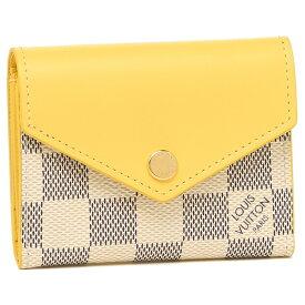 LOUIS VUITTON 折財布 レディース ルイヴィトン N60220 ホワイト/グレー/イエロー