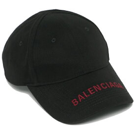 BALENCIAGA キャップ メンズ レディース バレンシアガ 541400 310B2 1073 ブラック/レッド