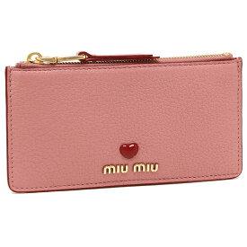 MIU MIU カードケース レディース ミュウミュウ 5MB006 2BC3 F0028 ピンク
