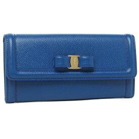 Salvatore Ferragamo 長財布 レディース ヴァラ リボン フェラガモ 22D154 0733653 ブルー