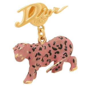 Christian Dior ピアス アクセサリー Dチャームポップ レオパード ゴールド ピンク レディース クリスチャンディオール E1617 CHALQ 304