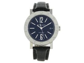 ブルガリ 時計 BVLGARI 腕時計 メンズブルガリ オートマチック アリゲーターレザー ブラック BB38BSLD シリアル有