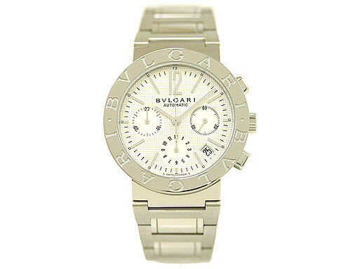 ブルガリ 時計 BVLGARI 腕時計 メンズブルガリ オートマチック クロノグラフ ホワイト BB38WSSDCH ウォッチ シリアル有