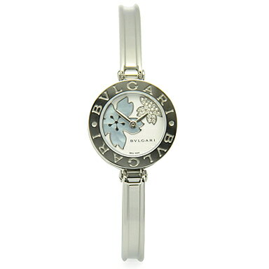ブルガリ 時計 BVLGARI 腕時計 レディース BZ22FDSS.M B-ZERO1 ビーゼロワン バングル ダイヤモンド フラワー ホワイト/ブルーシェル レディースウォッチ/シリアル有