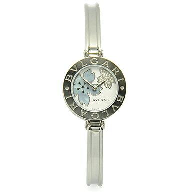 ブルガリ 時計 BVLGARI 腕時計 レディース BZ22FDSS.S B-ZERO1 ビーゼロワン バングル ダイヤモンドフラワー ホワイト/ブルーシェル レディースウォッチ/シリアル有