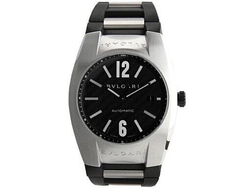 ブルガリ 時計 BVLGARI 腕時計 メンズ エルゴン オートマチック ラバー ブラック&シルバー/カーボンブラック EG40BSVD ウォッチ シリアル有