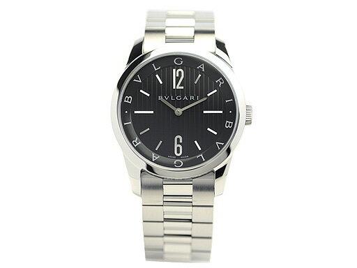 ブルガリ 時計 BVLGARI 腕時計 メンズ ソロテンポ ブラック ST37BSS ウォッチ シリアル有