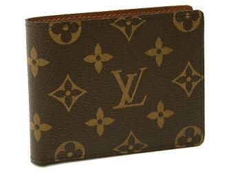 Louis Vuitton wallets LOUIS VUITTON Vuitton M60930 Monogram port be 9 cartocredi mens 2 fold wallet