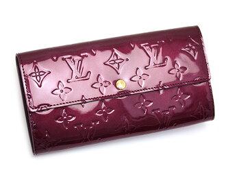 Louis Vuitton 钱包路易威登路易威登钱包 M91521 胭脂 fauviste 会标游标莎拉长钱包